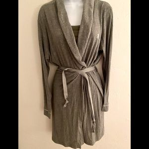 Victoria's Secret Wrap Robe - XL gray ,